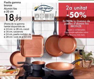 Oferta de Sartén Gama Bronze Aluminio fundido por 18,99€