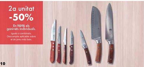 Oferta de En TODOS los cuchillos individuales  por