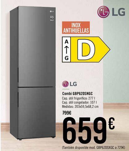 Oferta de LG Combi GBP62DSNGC  por 659€