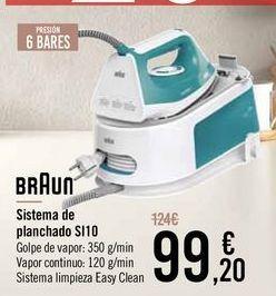 Oferta de BRAUN Sistema de planchado SI10 por 99,2€