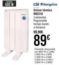 Oferta de Emisor térmico RRE510 Orbegozo  por 89€