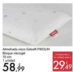 Oferta de Almohada visco Gelsoft PIKOLIN por 58,99€