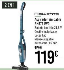 Oferta de ROWENTA Aspirador sin cable RH6751WO por 119€