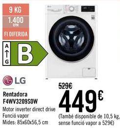 Oferta de LG Lavadora FAWV3209S0W  por 429€
