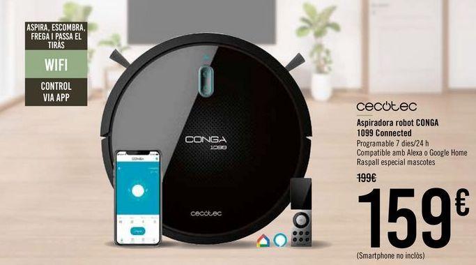 Oferta de CECOTEC Aspirador robot CONGA 1099 Connected  por 149€