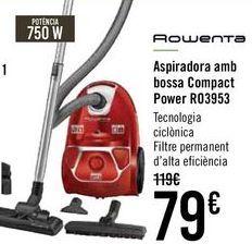 Oferta de ROWENTA Aspirador con bolsa Compact Power R03953 por 75€