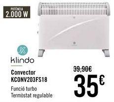 Oferta de Klindo Convector KCONV203FS18  por 33€