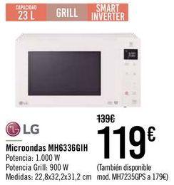 Oferta de Microondas MH6336GIH LG  por 109€