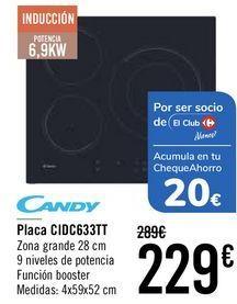 Oferta de Candy Placa CIDC633TT  por 219€