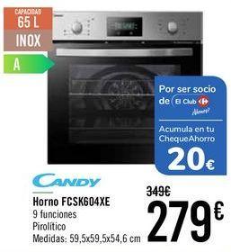 Oferta de Candy Horno FSCK604XE  por 269€