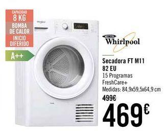 Oferta de Secadora FT M11 82 EU Whirlpool  por 449€
