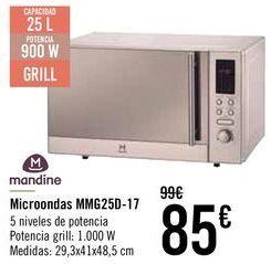 Oferta de Mandine Microondas MMG25D-17  por 79€