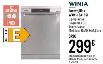 Oferta de WINIA Lavavajillas WVW-13A1ESI  por 289€