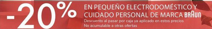 Oferta de EN PEQUEÑOS ELECTRODOMÉSTICO Y CUIDADO PERSONAL DE MARCA braun  por