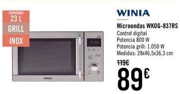 Oferta de WINIA Microondas WKOG-837RS  por 85€