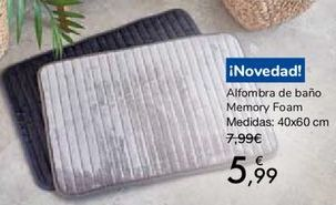 Oferta de Alfombra de baño Memory Foarm  por 5,99€