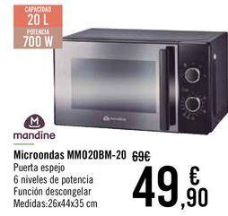 Oferta de Microondas mandine MM020BM-20  por 47€