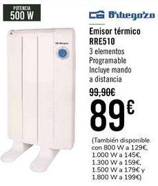 Oferta de Orbegozo Emisor Térmico RRE510  por 85€