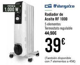 Oferta de Orbegozo Radiador de aceite RF 1000  por 37€