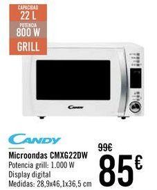 Oferta de Microondas CMXG22DW Candy  por 79€
