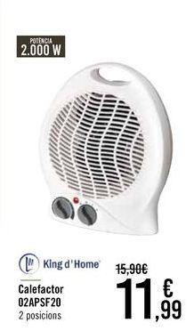 Oferta de King d' Home Calefactor 02APSF20 por 11,99€