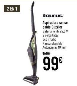 Oferta de TAURUS Aspirador sin cable Guzzler por 99€