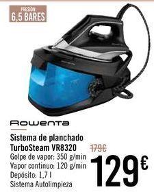 Oferta de ROWENTA Sistema de planchado TurboSteam VR8320 por 129€