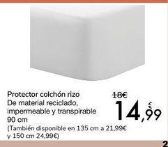 Oferta de Protector colchón rizo  por 14,99€