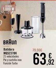 Oferta de BRAUN Batidora MQ5237BK por 63,92€