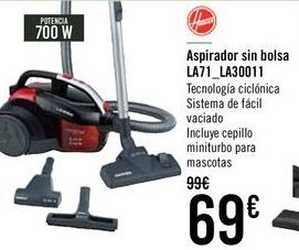 Oferta de Hoover Aspirador sin bolsa LA71_LA30011 por 69€
