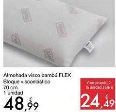 Oferta de Almohada visco bambú FLEX  por 48,99€