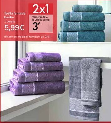 Oferta de Toalla fantasía lavabo por 5,99€