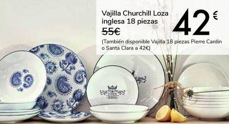 Oferta de Vajilla Churchill Loza inglesa 18 piezas por 42€