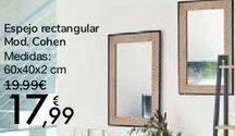 Oferta de Espejo rectangular Mod. Cohen por 17,99€
