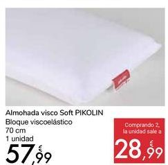 Oferta de Almohada visco Soft PIKOLIN por 57,99€