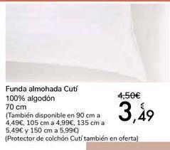 Oferta de Funda almohada Cutí por 3,49€