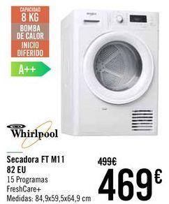 Oferta de Whirlpool Secadora FT M11 82 EU  por 469€