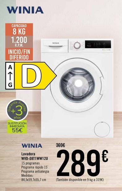 Oferta de WINIA Lavadora WDV-D8T1WW12U  por 289€