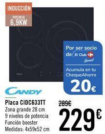 Oferta de Placa CIDC633TT Candy  por 229€
