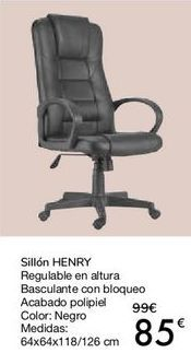Oferta de Sillón HENRY  por 85€