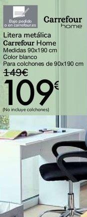 Oferta de Litera metálica Carrefour Home por 109€