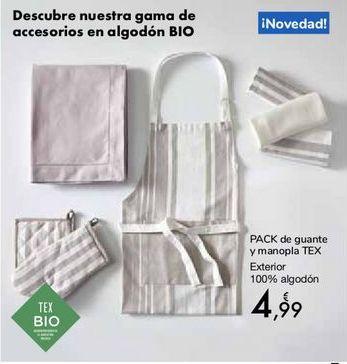 Oferta de PACK de guante y manopla TEX por 4,99€