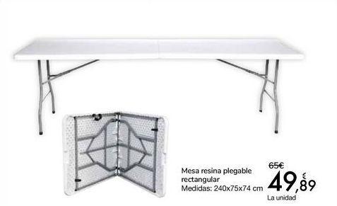 Oferta de Mesa resina plegable rectangular  por 49,89€