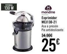 Oferta de Mandine Exprimidor MCJ130-21  por 25€
