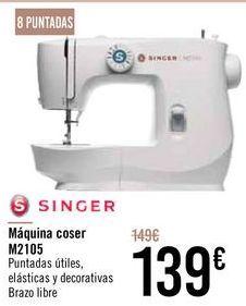 Oferta de SINGER Máquina coser M2105 por 139€