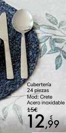Oferta de Cubertería 24 piezas Mod. Crete por 12,99€
