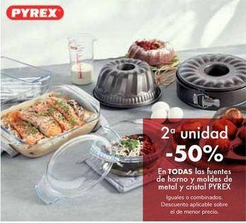 Oferta de En TODAS las fuentes de horno y moldes de metal y cristal PYREX por