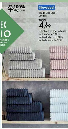 Oferta de Toalla BIO SOFT Lavabo por 4,99€