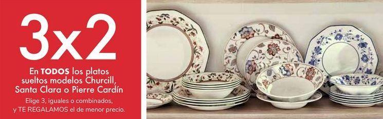 Oferta de En TODOS los platos sueltos modelos Churchill, Santa Clara o Pierre Cardín por