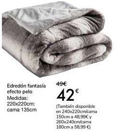 Oferta de Edredón fantasía efecto pelo por 42€